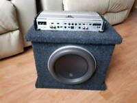 Jl audio 10w7 subwoofer and jl audio 500/1