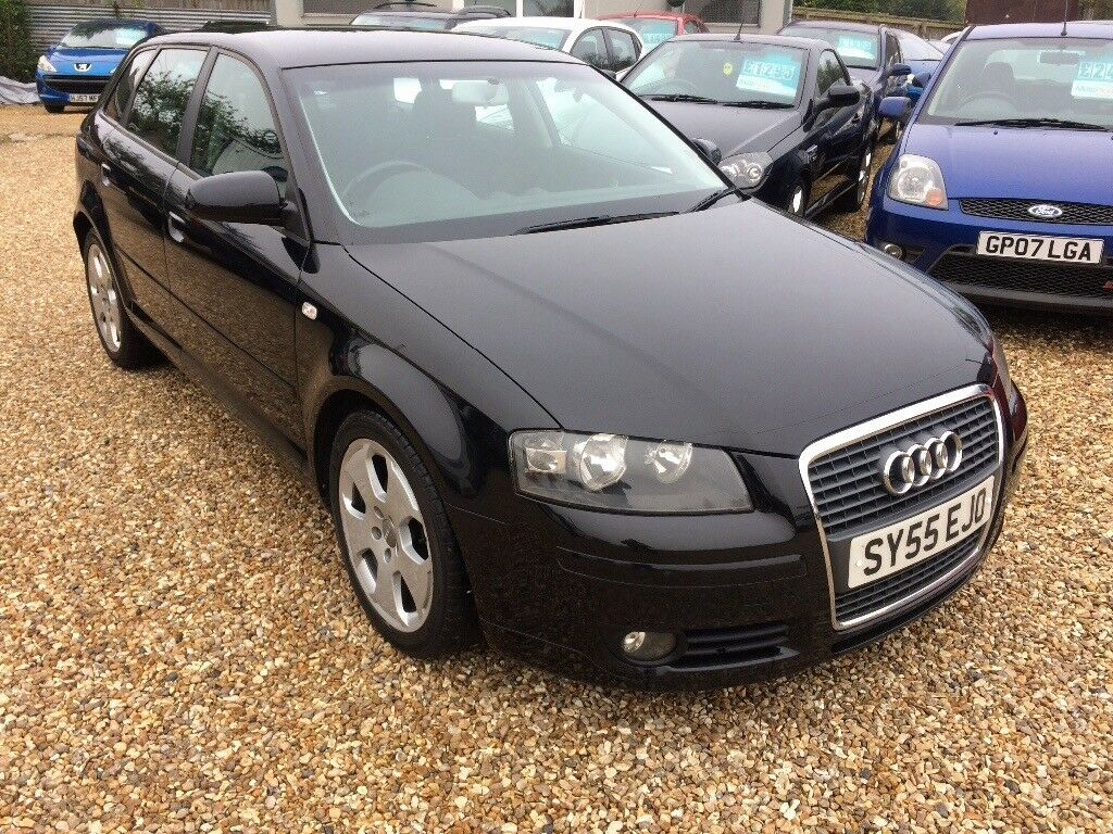 audi a3 sportback 2005 in black in wimborne dorset. Black Bedroom Furniture Sets. Home Design Ideas