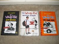 3 Diary of a Wimpy Kid Hardbacks (Old School, The Long Haul and The Movie Diary) VGC