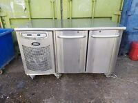 commercial foster undercounter double door fridge work top for restaurant cafe