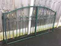 Nice Set Of Decorative Metal / Steel Driveway Gates- DELIVERY/COLLECTION WIGAN