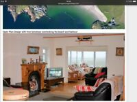 4bedroom holiday home located on hillside of popular seaside village of Downings in north Donegal.