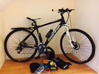 BOARDMAN MX RACE HYBRID BIKE WITH ACCESSORIES ** REDUCED PRICE **
