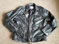 Mens real leather jacket size xs