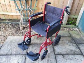 Karma I-LiteUltra Lightweight Aluminium Wheelchair - Handle Bar Brakes - Wheel chair