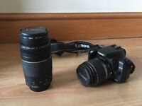 Canon EOS 350D camera and lenses (including ZOOM lens EF 75-300mm 1:4-5.5).