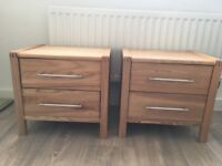 Set of wooden bedside tables