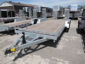 2017 Advantage 7 ton Galvanized Equipment Trailer