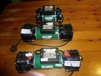 Salamander Pumps to go. RSP50,RSP100 twin &Right RSP100