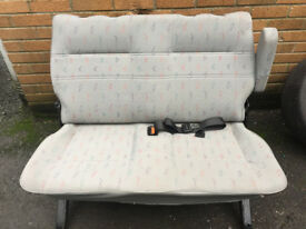 VW Transporter T4 Rear Bench Seat with Seat Belts and fixings