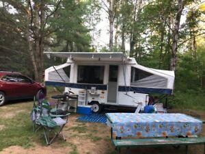 Electric 12' Rockwood Premier Tent Trailer