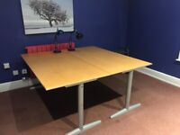 2 Office desks solid modern design and in very good condition