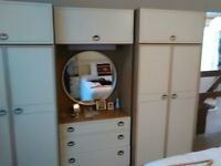 Wardrobe and chest drawers set 6 piece or can separate many more items too
