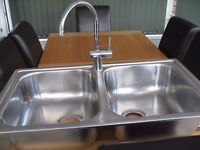 Stainless steel tap and sink