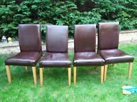 4 chairs free , please pick up after 5pm