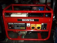 2.2KW GENUINE HONDA 110V SITE GENERATOR WITH LOW OIL AUTOMATIC SHUTDOWN