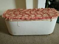 Vintage Lloyd Loom wicker ottoman blanket box