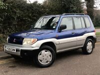 2001 MITSUBISHI SHOGUN PININ GDI, 2.0, 4X4, BRAND NEW MOT AND RECENT SERVICE.