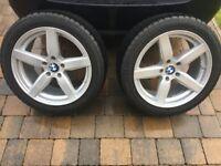 BMW 530d 2015 (F10) Alloys x 4 with Good Snow tyres & TPS