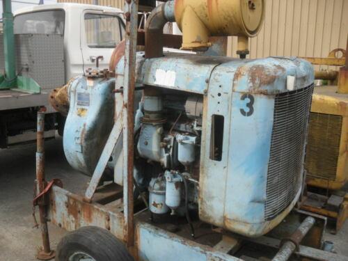 """Gorman-Rupp 6"""" trash water self priming pump with 3-53 Detroit diesel"""