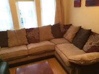Corner sofa, 2 seater and pouffe - open to offers