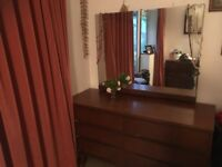 Lovely wooden 8 drawer dressing table with mirror