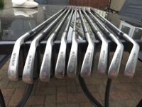 A full set of Howson Golf Clubs