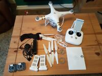 DJI PHANTOM 3 professional drone, 2 batteries with extras for sale  Hampshire