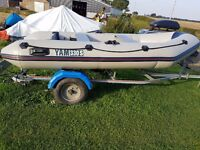 Yam Rib 3.3 with trailer and out board