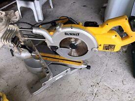 Dewalt chop saw 240v pull and tilt