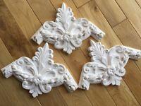 Plaster Cornices x 3 Decorative Unused