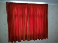 Two pairs of Brown (rust) curtains. 70 inch drop by 82 inches wide