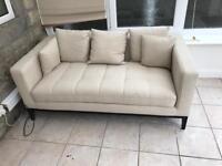 Dwell beige sofa approx 1700x900x750mm