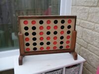 Fabulous Large Wooden 'Connect4' Game