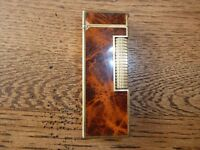 Vintage Dunhill Brown Marble Effect Gold Plated Lighter