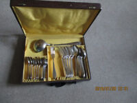 Various silver plated French cutlery circa 1900 or before - some still boxed