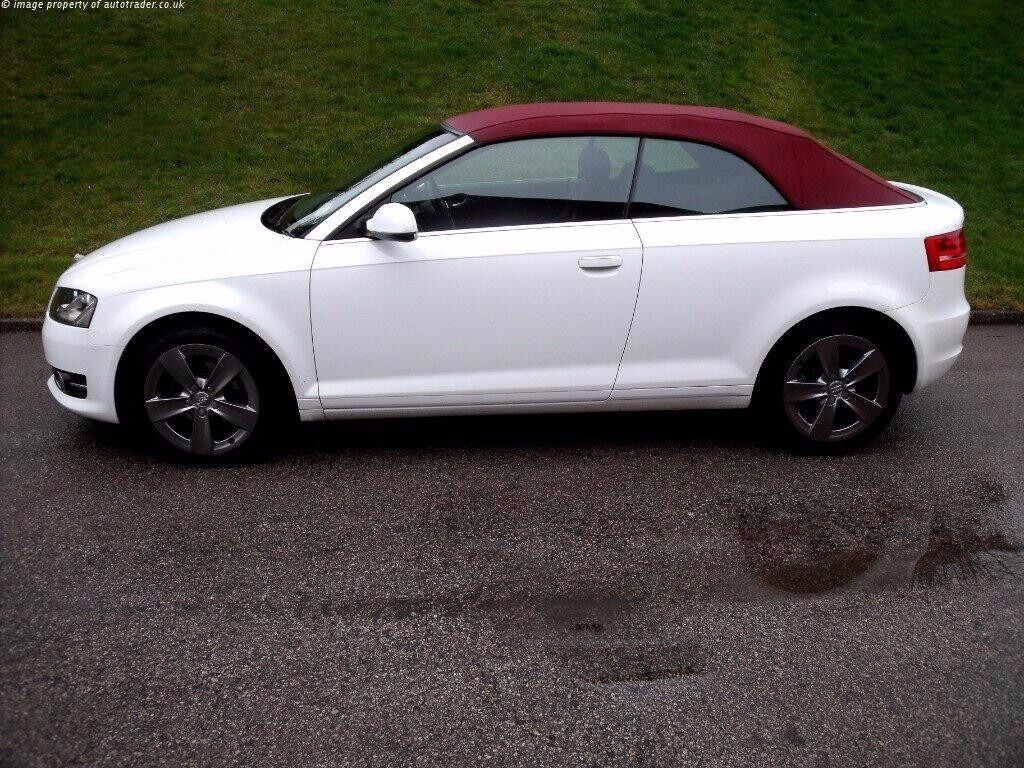 Audi a3 convertible 2010 white with red roof 2 lady owners audi a3 convertible 2010 white with red roof 2 lady owners full sciox Images