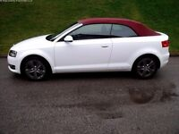 Audi A3 Convertible | 2010 | White with Red Roof | 2 Lady Owners | Full Service History | MOT Mar18