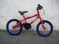 "Kids Bike by Spiderman, Red & Blue, 16"" Wheels Great for Kids 5 Years+, JUST SERVICED / CHEAP PRICE!"