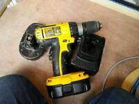 Dewalt drill used with 2 batteries and charger
