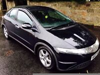 2007 Honda Civic 1.8 petrol 5dr New 12 months MOT , Black