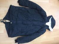 Ladies black jacket size 14/med cream fleece lining £5 never worn