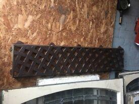 Cast Iron Garden Bench Lattice Back Plate W/R
