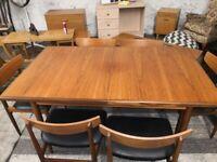 G Plan - Immaculate Kofod Larsen Vintage Teak Extending Dining Table