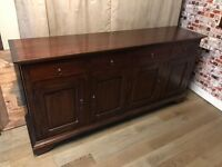 Beautiful solid wood large sideboard, 190cm L, great condition