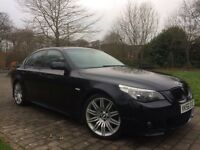 "2006 BMW 520d M SPORT 19"" Staggered Spider Alloys Manual 6 Gears FSH in Carbon black"