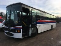 VOLVO VANHOOL COACH 51 SEATER RUNS & DRIVES WELL JUST OUT OF TEST £1800 DRIVE AWAY