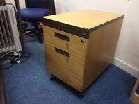 Free wooden desk and pedestal