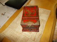Asian inspired antique treasure box