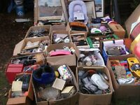 HUGE HOUSE CLEARANCE JOB LOT 20+ BOXES IDEAL CAR BOOT ETC